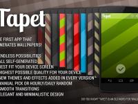 Aplikace Tapet na automatické generování pozadí